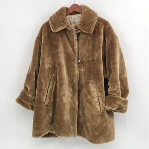 Made in Italy Benetton Faux Fur Teddy Coat